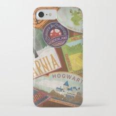 Fantasy Land Luggage Stamps  Slim Case iPhone 7
