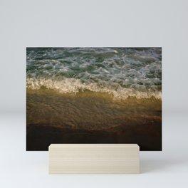 Golden wave Mini Art Print