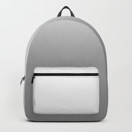 White to Gray Horizontal Linear Gradient Backpack