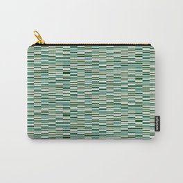 Vintage Lines Forest Green Carry-All Pouch