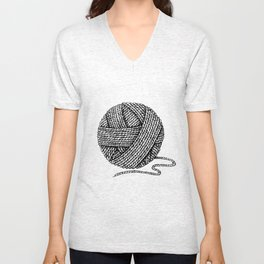 A ball of yarn Unisex V-Neck