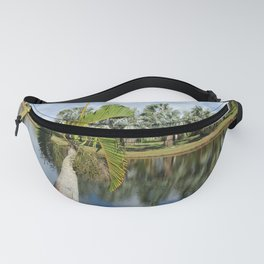 Palm Reflection - Tropical Garden Pond Fanny Pack