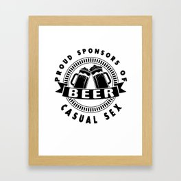 beer casual sex - I love beer Framed Art Print