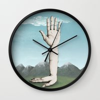 hands Wall Clocks featuring Hands by Bwiselizzy