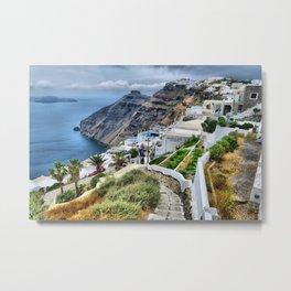 Santorini 3 Metal Print