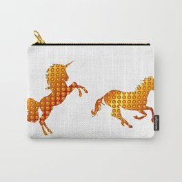 Golden couple unicorns-White Carry-All Pouch