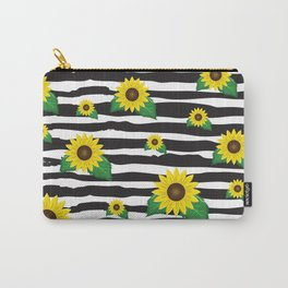 Sunflowers Print Carry-All Pouch