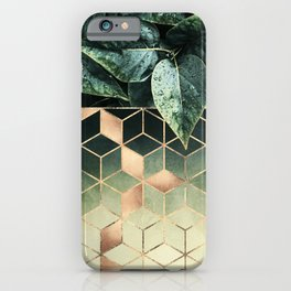 Leaves And Cubes 2 iPhone Case