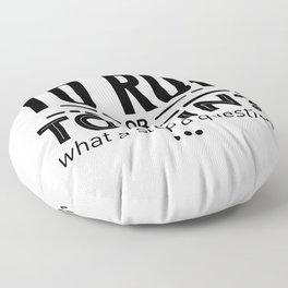 Runners Run Running Is Life Design Floor Pillow