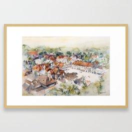 Old Marketplace in Kazimierz Dolny   Poland Framed Art Print