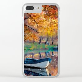 Аutumn drops Clear iPhone Case