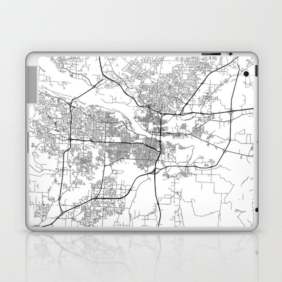 Minimal City Maps - Map Of Little Rock, Arkansas, United States Laptop & iPad Skin