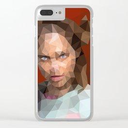 Bart Curlish Clear iPhone Case