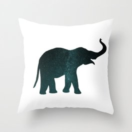 Universe Elephant Throw Pillow