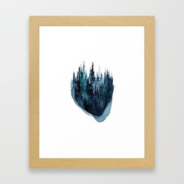 Turquoise Glow - Pine Forest Framed Art Print