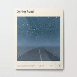 "Jack Kerouac ""On the Road"" - Minimalist literary art design, bookish gift Metal Print"