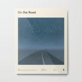 "Jack Kerouac ""On the Road"" - Minimalist literary art design, bookish gift Metal Print"