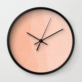 A Touch Of Peach - Soft Geometric Minimalist Wall Clock