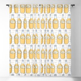 Cute bottle of golden syrup illustration Blackout Curtain