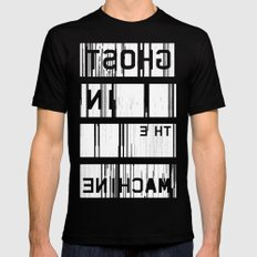 Ghost in the Machine (Inverted) MEDIUM Black Mens Fitted Tee