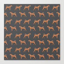 Irish Terrier dog breed pet pattern dog art pet friendly terriers portrait Canvas Print