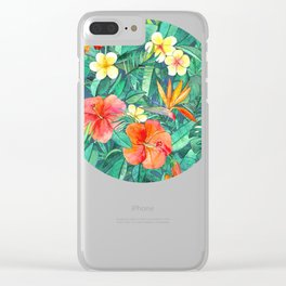 Classic Tropical Garden Clear iPhone Case