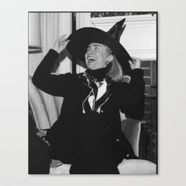 hill witch bw Canvas Print