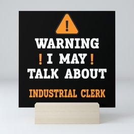 Industrial Clerk Mini Art Print