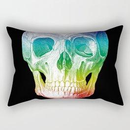 Rainbow Skull Rectangular Pillow