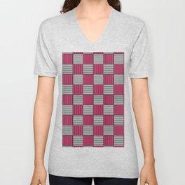 Checkered Pattern 3 Unisex V-Neck