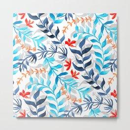 Tropic Gouache Sea Plants  Metal Print