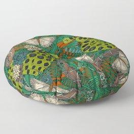 entangled forest rust Floor Pillow