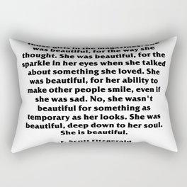 She was beautiful - F.scott Rectangular Pillow