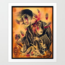 japanese ghost Art Print