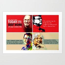 Famous Quote Art Print