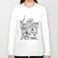 pac man Long Sleeve T-shirts featuring Pac-Man House by Ryan Huddle House of H