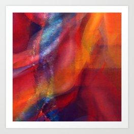 Dancing Colors Digital Painting Art Print