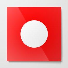 White circle on red Metal Print