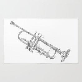 Typographic trumpet Rug