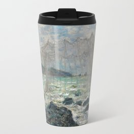 Claude Monet - Fishing nets at Pourville, 1882 Travel Mug