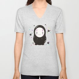 Spirited Away No Face Kawaii With Soot Sprites Unisex V-Neck