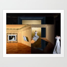 Whispers in the museum Art Print