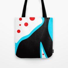 Blue Black Red Tote Bag