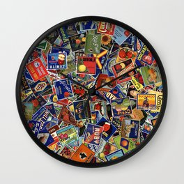 Fruit Crate Collage Wall Clock