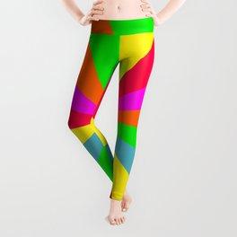 Neon Rainbow Burst Leggings