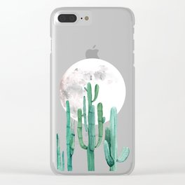 Desert Nights 2 Clear iPhone Case