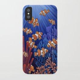 Clown Fish tank iPhone Case