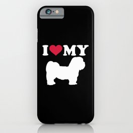 I love my Lhasa Apso iPhone Case