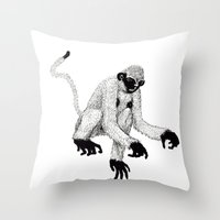 ape Throw Pillows featuring ape by rectify