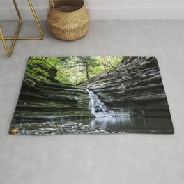 Forest Waterfall Rug